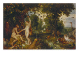 The Garden of Eden with the Fall of Man, about 1616 Giclee Print by Peter Paul Rubens