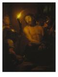 Die Verspottung Christi Giclee Print by Godfried Schalcken