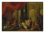 King Solomon and the Queen of Sheba Giclee Print by Balthasar Beschey