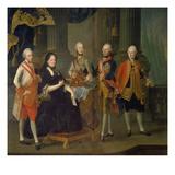 Maria Theresia Mit Vier Soehnen, 1775 Giclee Print by Louis Joseph Maurice