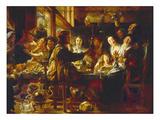 Wie Die Alten Sungen, So Zwitschern Die Jungen, 1664 Giclee Print by Jacob Jordaens