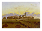 Neubrandenburg Burning, 1835 Giclee Print by Caspar David Friedrich