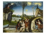 The Fall of Man and Redemption, about 1529 Giclee Print by Lucas Cranach the Elder