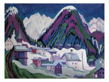 Dorf Monstein Bei Davos, 1927 Posters by Ernst Ludwig Kirchner