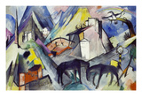The Unfortunate Land of Tyrol, 1913 Impression giclée par Franz Marc