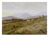 Landscape in the Riesengebirge (Bohemian Landscape), about 1835, Unfinished Posters by Caspar David Friedrich