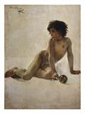 Bildnis Eines Nackten Knaben(Akademia) 1887 Giclee Print
