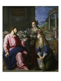 Christus with Mary and Martha, 1605 Giclee Print by Alessandro Allori