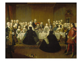 Feast on the Occasion of Maria Theresia's Marriage Giclee Print by Martin II Mytens/ Meytens