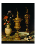 Still Life with Flowers and Goblets, 1612 Giclee Print by Clara Peeters