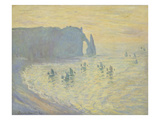 The Cliffs at Etretat, 1883/86 Print by Claude Monet