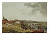 Blick Vom Aschaffenburger Schloss Auf Die Mainbruecke Giclee Print by Ferdinand Kobell