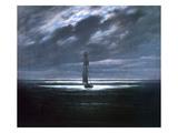 Caspar David Friedrich - Seascape in Moonlight, 1830/35 Digitálně vytištěná reprodukce