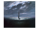 Caspar David Friedrich - Seascape in Moonlight, 1830/35 - Giclee Baskı