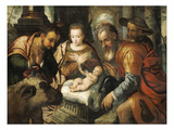 Adoration of the Shepherds Reproduction procédé giclée par Pieter Aertsen