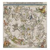 Karte von the Northern Sky Giclée-Druck von Albrecht Dürer