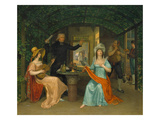 The Fermata (Gathering in an Itallian Locanda), about 1814 Giclee Print by Johann Erdmann Hummel