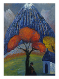 The Red Tree, 1910 Giclee Print by Marianne von Werefkin