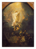 Ascension of Christ, 1636 Poster by  Rembrandt van Rijn