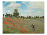 Wild Poppies, Near Argenteuil, 1873 Giclee Print by Claude Monet