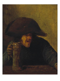 Farmer with Bicorne and Mug, 1630S Giclee Print by Adriaen Brouwer