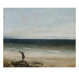 Gustave Courbet - The Seashore at Palavas, 1854 Digitálně vytištěná reprodukce