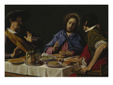 Christ and the Disciples at Emmaus Giclée-tryk af Matteo Rosselli
