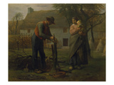 Farmer Grafting a Tree (Le Greffeur) Art by Jean-François Millet