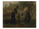 Farmer Grafting a Tree (Le Greffeur) Giclee Print by Jean-François Millet