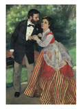 Alfred Sisley and Wife, 1868 Giclee Print by Pierre-Auguste Renoir