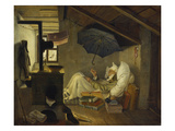 The Poor Poet, 1839 Giclee Print by Carl Spitzweg