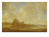 Landscape with Motif of Leiden, 1643 Giclee Print by Jan Van Goyen