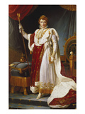 Napoleon Bonaparte in Coronation Regalia. Copy Giclee Print by Francois Gerard