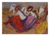 Russian Dancers, about 1895 Reproduction proc&#233;d&#233; gicl&#233;e par Edgar Degas