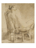 Female Nude Giclee Print by  Rembrandt van Rijn