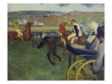 Carriage on the Racecourse, 1877/78 Print by Edgar Degas