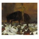 Der Krieg, 1894 Gicleetryck av Franz von Stuck
