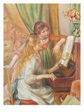 Young Girls at the Piano, 1892 Giclee Print by Auguste Renoir