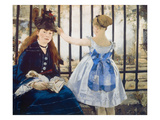 Woman and Girl at St. Lazare Train Station, 1873 Print by Edouard Manet