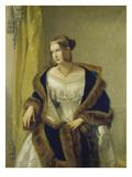 Portrait of Freifrau Von Bernus, 1838 Giclée-Druck von Philipp Veit