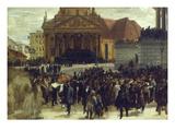 Die Aufbahrung Der Gefallenen Der Maerzrevolution in Berlin, 1848 Giclee Print by Adolph von Menzel