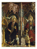 Altarpiece of the Four Latin Doctors, about 1480: Centre Panel, Left Hand Side, St. Augustine Impressão giclée por Michael Pacher