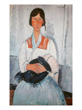 Gipsy Woman with Child, 1918 Giclee Print by Amedeo Modigliani