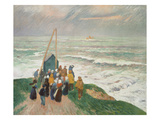 Waiting for the Fishermen (Bretagne), 1894 Giclee Print by Henry Moret