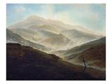 Riesengebirgslandschaft Mit Aufsteigendem Nebel, um 1820/1821 Giclee Print