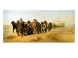 Die Wolgatreidler, 1870/73 Print by Ilya Efimovich Repin