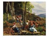 Reisigsammler Im Wiener Wald, 1855 Giclee Print by Ferdinand Georg Waldmüller