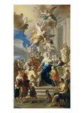Saint Elizabeth of Hungary Giving Out Alms, 1736/37 Giclee Print by Daniel Gran