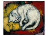 The White Cat, 1912 Gicléedruk van Franz Marc