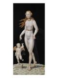 Venus and Cupid Poster by Lucas Cranach the Younger
